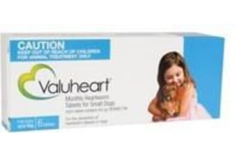 Valuheart Heartworm Tablets for Small Dogs up to 10 kg - 6 Pack - Blue