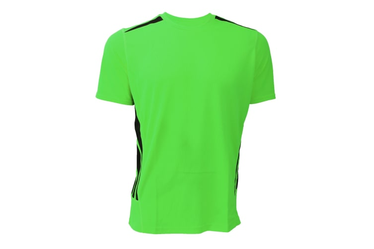 Gamegear® Mens Cooltex Short Sleeve Training T-Shirt (Fluorescent Lime/Black) (L)