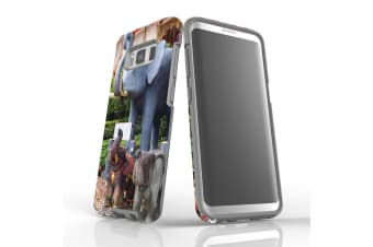For Samsung Galaxy S8 Case Armour Cover  Elephant Statues