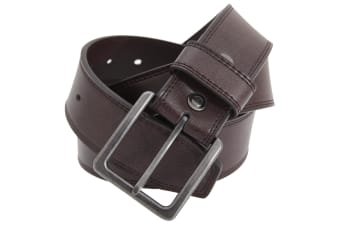 FLOSO Mens 1.5 Inch Leather Lined Belt (Brown)