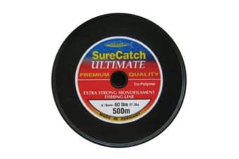 500 Metres Of 60lb Wilson Extra Strong Co Polymer Mono Fishing Line