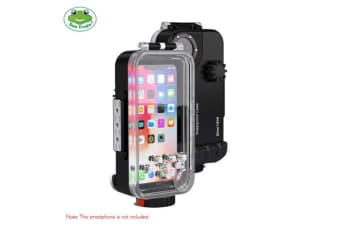 Sea frogs Professional IPX8 Waterproof Mobile Phone Case Surfing Swimming Diving Housing Case 60m/195ft Underwater 360 Degrees Full Sealed Cover Protection-black