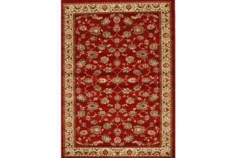 Traditional Floral Pattern Rug Red