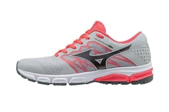 Mizuno Women's SYNCHRO MD 2 Running Shoe (Grey/Red, Size 9.5 US)