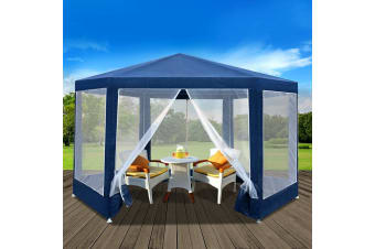 Gazebo Party Tent Marquee Canopy Mesh Wall Outdoor Camping Gazebos