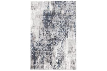 Casper Distressed Modern Rug Blue Grey White 230X160cm