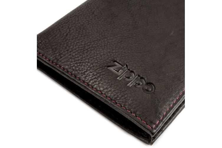 Zippo Leather Bi-fold Mocha Money Clip Wallet