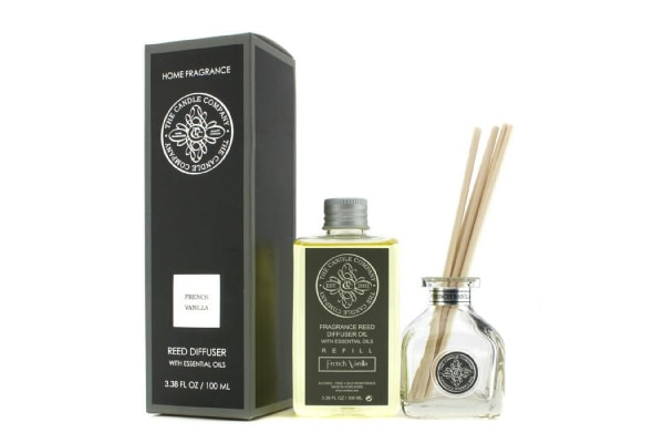The Candle Company Reed Diffuser with Essential Oils - French Vanilla (100ml/3.38oz)