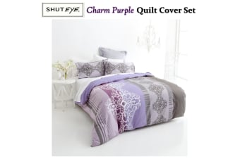 Charm Purple Quilt Cover Set KING by Shuteye