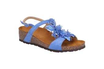 Riva Womens/Ladies Java Buckled Sling Back Sandal (Blue)