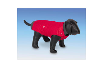 Nobby Nina Fleece Lined Dog Coat (Red)