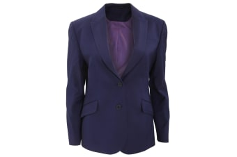 Brook Taverner Ladies/Womens Novara Semi Fitted Suit Jacket (New Mid Blue)