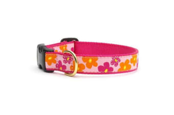 Up Country Flower Power Collar (Pink/Orange)