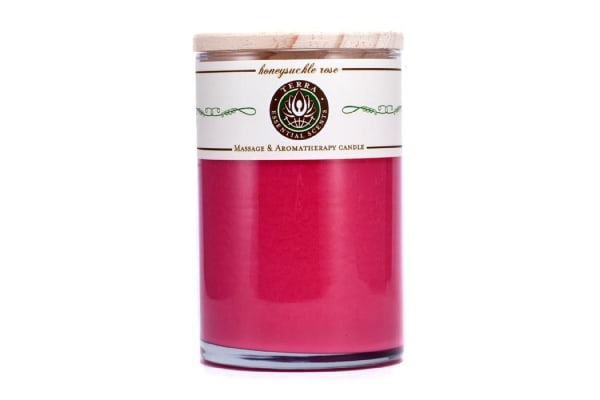 Terra Essential Scents Massage & Aromatherapy Candle - Honeysuckle Rose (12oz)