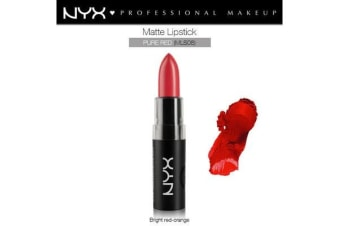 Nyx Matte Lipstick Pure Red Bright Red Orange #Mls08