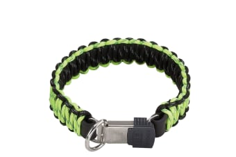 HS Sprenger Lock Closure Paracord Dog Collar (Yellow)