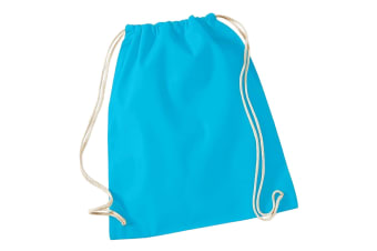 Westford Mill Cotton Gymsac Bag - 12 Litres (Surf Blue) (One Size)