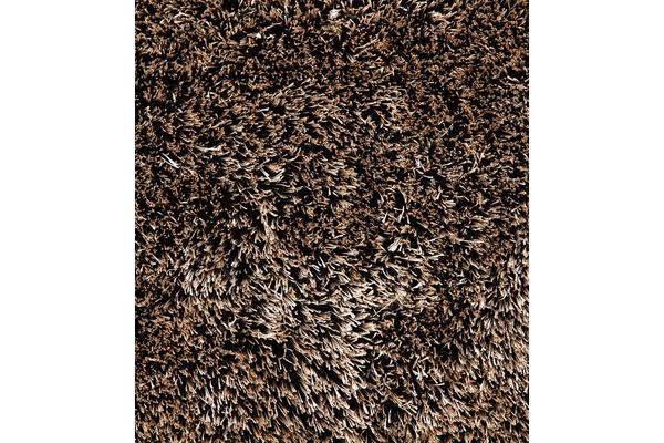 Thick Plush Shimmering Shag Rug Gold Black 280x190cm