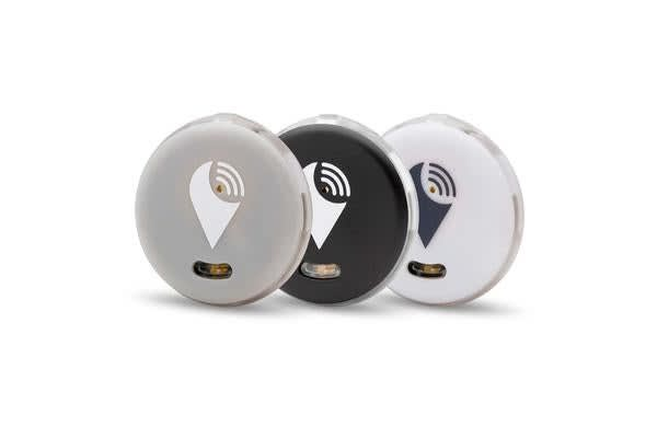 Trackr Pixel Bluetooth Tracker  3 Colour Pack - (Black/White/Silver)