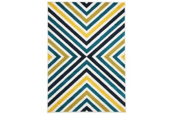 Indoor Outdoor Hex Rug Blue Blue Navy 330x240cm