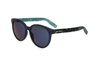 BOSS Orange Wayfarer 0195/S Sunglasses - Blue/Blue Havana