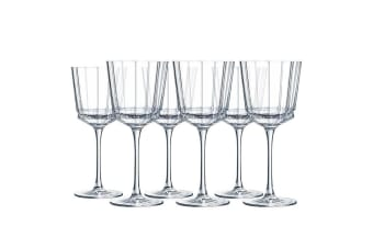6PK Cristal D'Arques Macassar 350ml Red White Wine Glass Glasses Bar Tableware