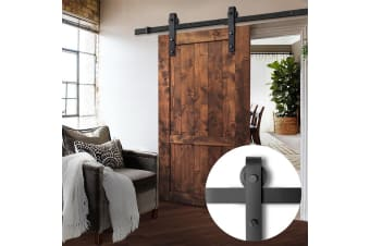 1.83m Sliding Barn Door Hardware Track Set Home Office Bedroom Interior Closet