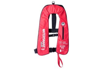 Red Watersnake Deluxe Automatic/Manual Inflatable PFD - Level 150 Adult Life Jacket