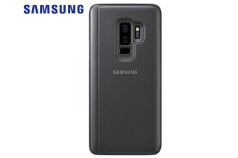 Samsung Black Clear View Standing Case for Galaxy S9+/Plus Cover/Stand/Folio
