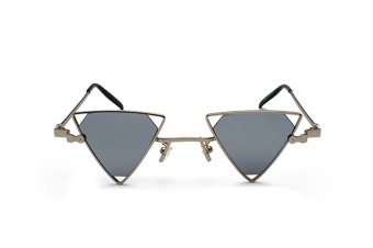 Mens Sunglasses For Womens Punk Wind Triangle Hollow SunglassesMetal Sunglasses