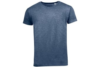 SOLS Mens Mixed Short Sleeve T-Shirt (Heather Navy) (S)