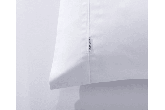 60% Bamboo 40% Cotton Blend Cover 400TC Fitted Bed Sheet Pillowcase Combo - White