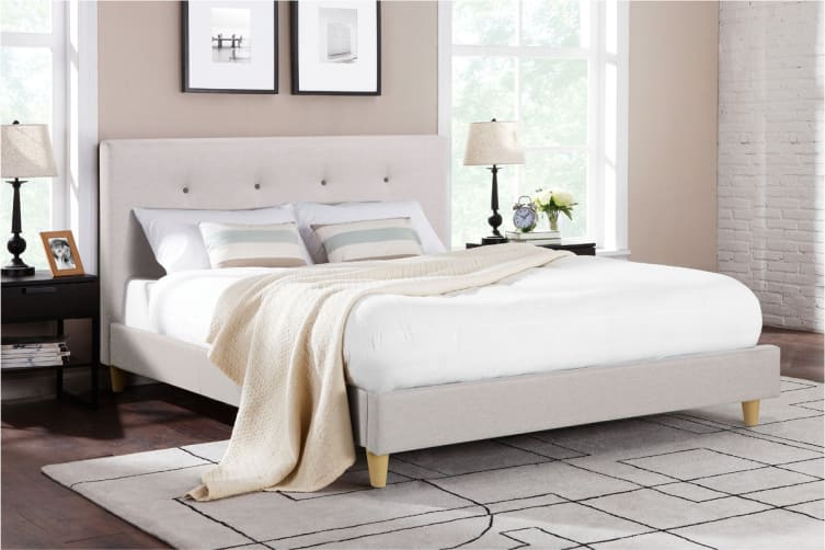 Ovela Bed Frame - Sonata Collection (Beige, Double)