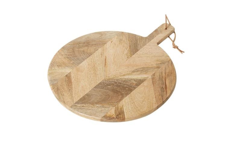 Salisbury & Co Parquetry Round Paddle Serving Board 40cm
