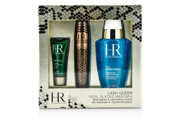 Helena Rubinstein Lash Queen Fatal Blacks Mascara Kit: Mascara 7.2ml/0.24oz + MakeUp Remover 50ml/1.69oz + Powercell 3ml/0.15oz (3pcs)