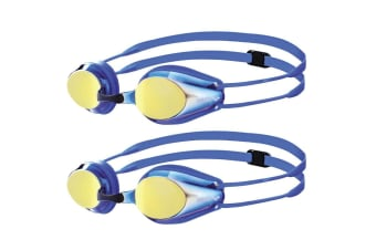 2PK Arena Tracks Junior Racing Mirror Swimming Goggle Kids Glasses 6-12y BL/YL