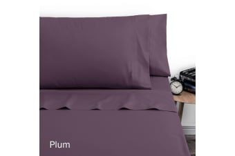 250TC Polyester Cotton Sheet Set Single Plum by Artex