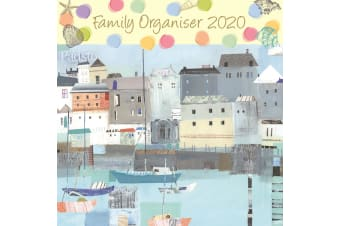 By the Sea Family Organiser - 2020 Wall Calendar Planner 16 month 30x30cm (X)