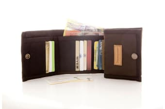 DIdgeridoonas Cards and Notes Oilskin and Teflon Coated Canvas Trifold wallet