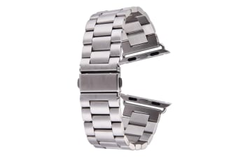Silver For Apple Watch (38mm) Butterfly Stainless Steel Watch Strap
