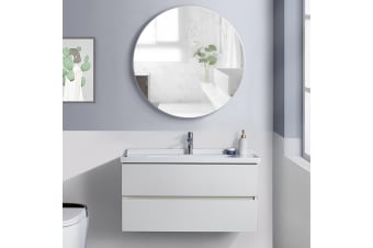 Levede Bathroom Storage Mirror Cabinet Shaving Wall Hung Organiser Fast Delivery  -  Round Mirror Cabinet