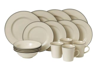 Royal Doulton Gordon Ramsay Union Street Cafe Cream 16pc Dinner Set