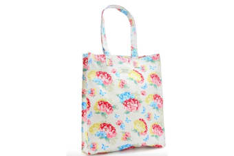 Womens/Ladies Hydrangea Large Shopping Bag (Pink/Blue/Yellow) (Large)