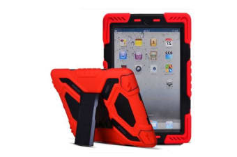 Generic iPad 2017 Model Shock proof Tough Case Protector -Red