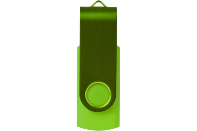 Bullet Rotate Metallic USB Stick (Lime) (2GB)