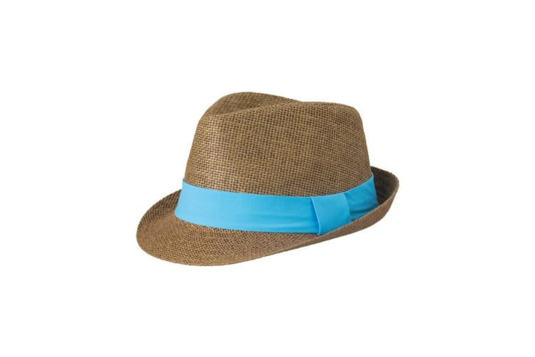Myrtle Beach Adults Unisex Street Style Hat (Brown/Turquoise) (S/M)