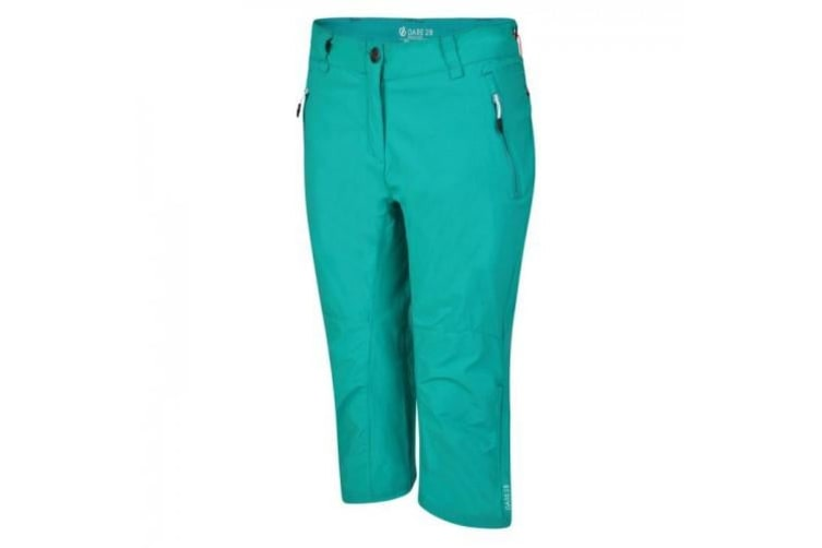 Dare 2B Womens/Ladies Melodic II 3/4 Walking Trousers (Caribbean Green) (10 UK)
