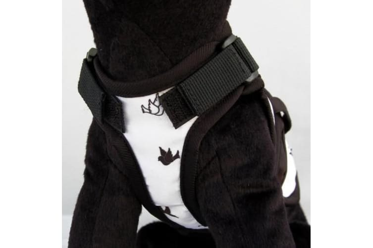 26 Bars & a Band Freebird Avant Garde Dog Harness (White/Black) (XS)