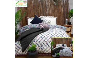 Corley Quilted Reversible Quilt Cover Set by Apartmento