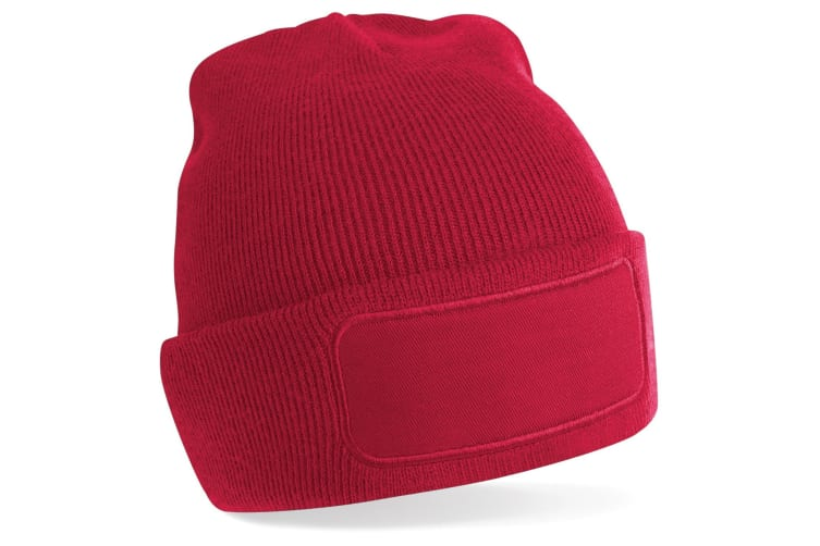 Beechfield Unisex Plain Winter Beanie Hat / Headwear (Ideal for Printing) (Classic Red) (One Size)
